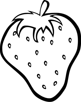 Strawberry Outline Fruit Coloring Pages Fruits Drawing Apple Coloring Pages
