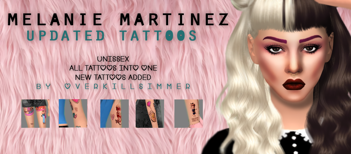 Melanie Martinez Updated Tattoos Unissex Better Placement And New Tattoos Added Found Under Tattoos With Custom Thu Sims 4 Tattoos Melanie Martinez Sims 4 Daily s4cc updates, s3cc & s2cc updates. sims 4 tattoos melanie martinez sims 4