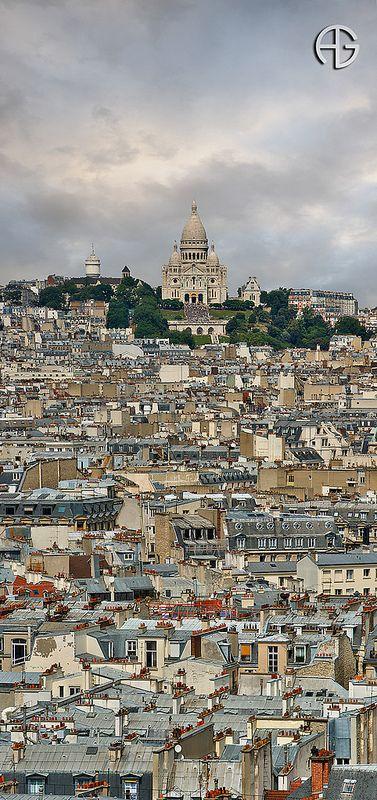 Sacré Coeur, Montmatre, Paris, France.Subir , subir, pero llegar es fantástico.