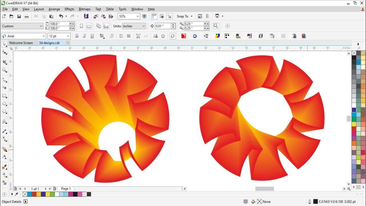3d designs in corel draw wtih cdtfb --- corel draw tutorials for