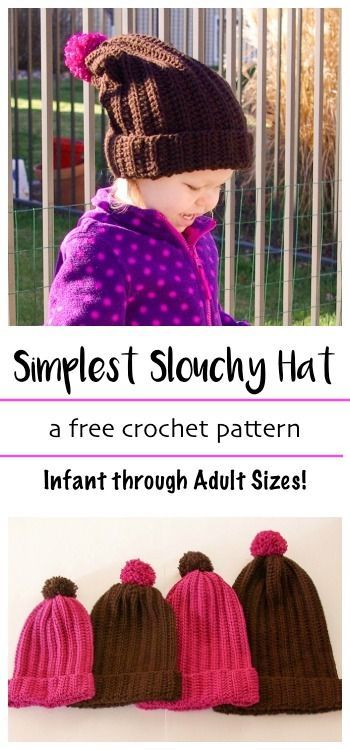 Simplest Slouchy Hat Slouchy Hat Free Crochet And Crochet