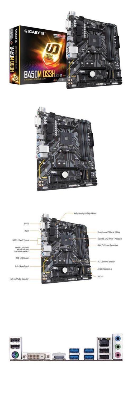 Motherboards 1244: Gigabyte B450m Ds3h Am4 Amd B450 Sata 6Gb S Usb