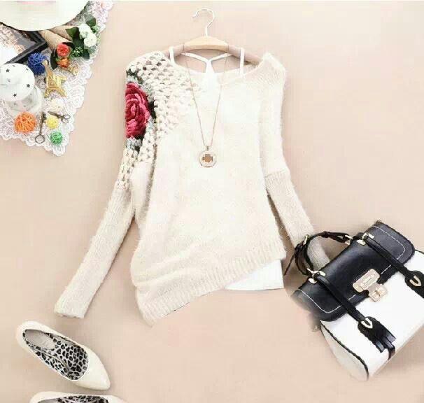 Pretty white sweater   In My Closet   Pinterest   White sweaters