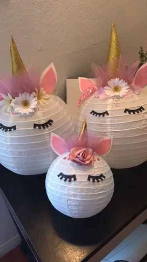 Linternas unicorns decorations lanterns