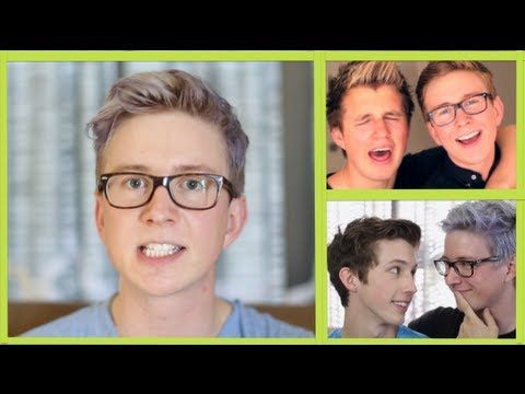 This is Tyler Oakley and he has a must see youtube channel. He is cute,funny, and a great youtuber. I love all of his video especially this one where he is sweating a lot. Its just another real side to him or i am just weird :-)