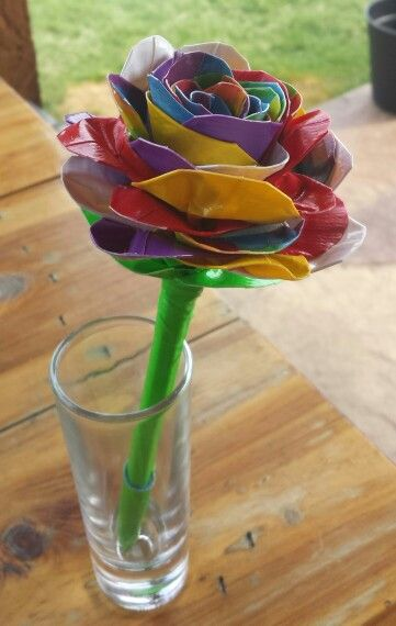 Rainbow Duct Tape Rose Pen What Ive Made Pinterest Duct Tape