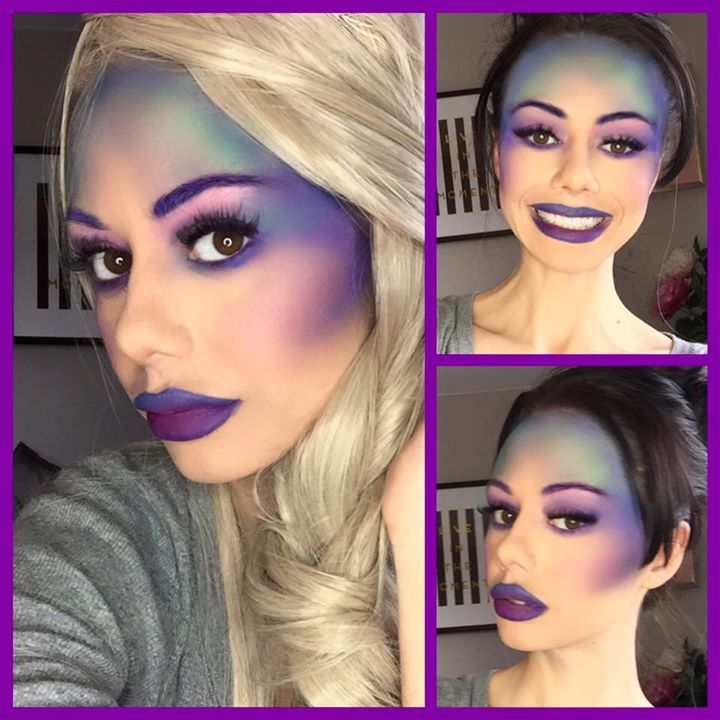 Mermaid makeup - colourful Make-up Artist specialising in Bridal Make-up, special occasion makeup, classic beautiful looks, Old Hollywood Glam, also looks such as Celebrity Makeup