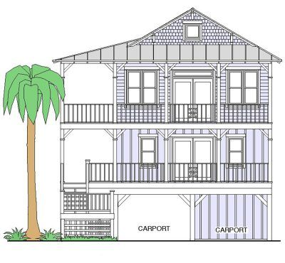 Elevated Piling and Stilt House Plans Coastal House Plans from Coastal Home Plans