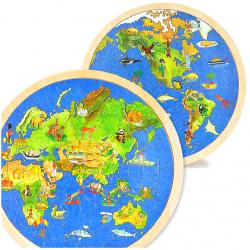 Puzzle Zemeguľa