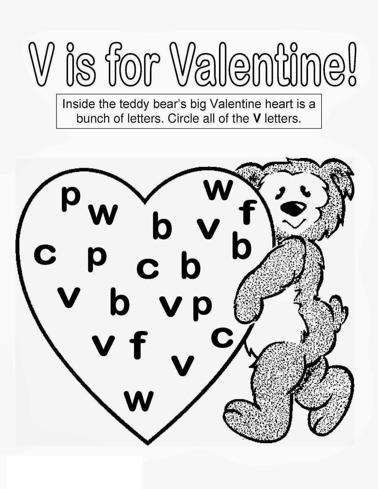 Free Preschool Activity Sheets Valentine Puzzle