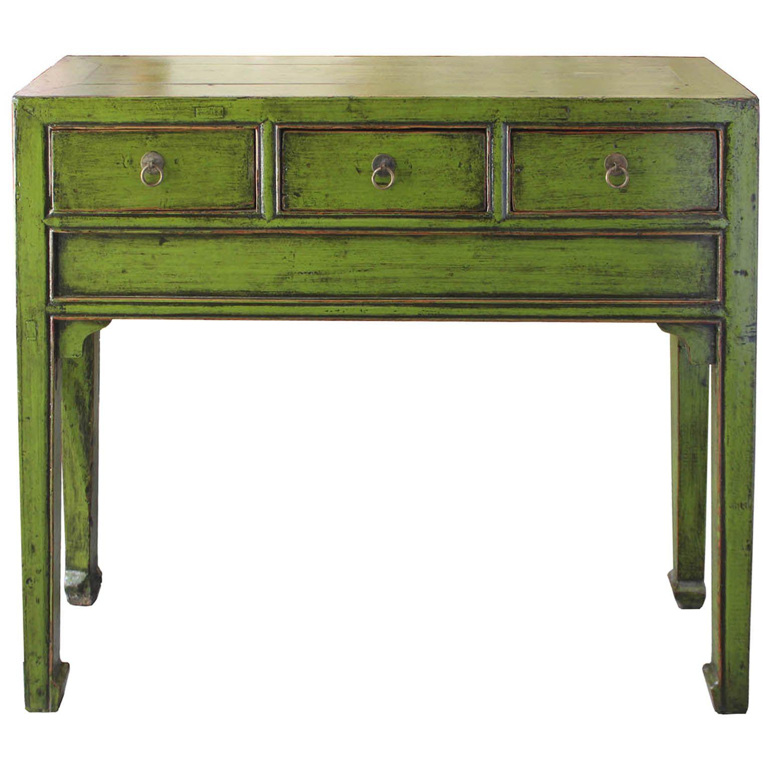 Lime Green Console Table Tansu Design Console Table Table Lime Green