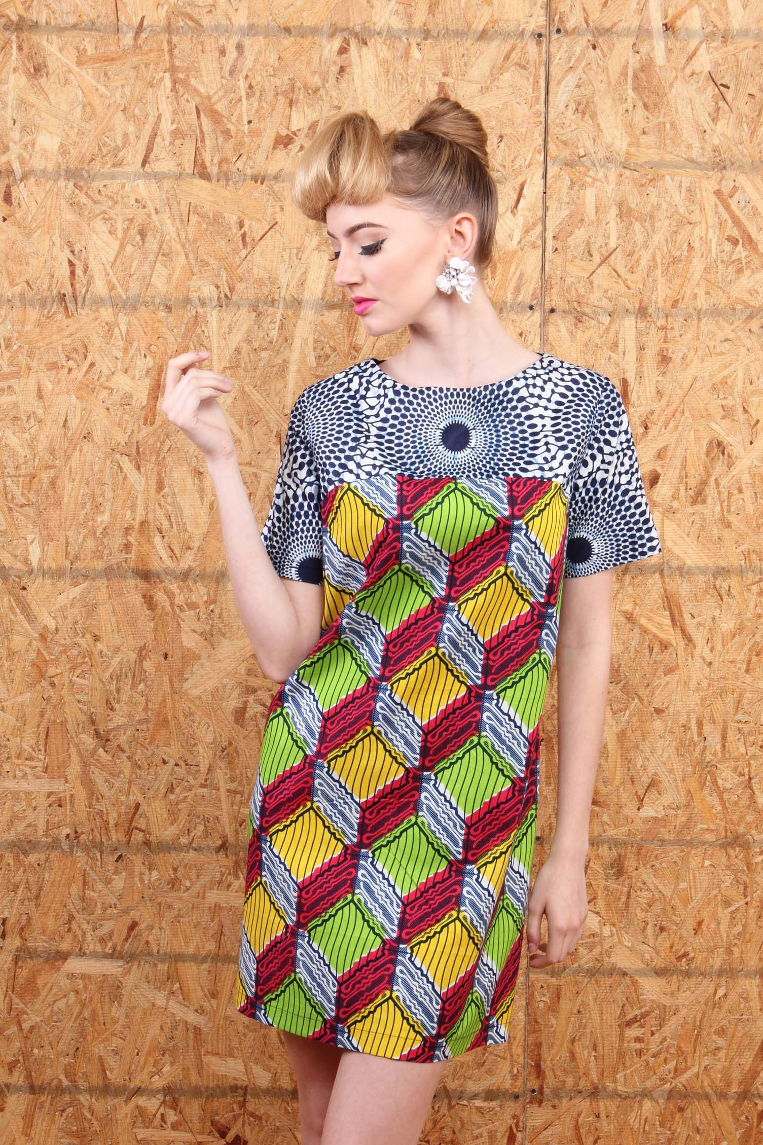 Suakoko betty tunic dress latest african fashion ankara kitenge