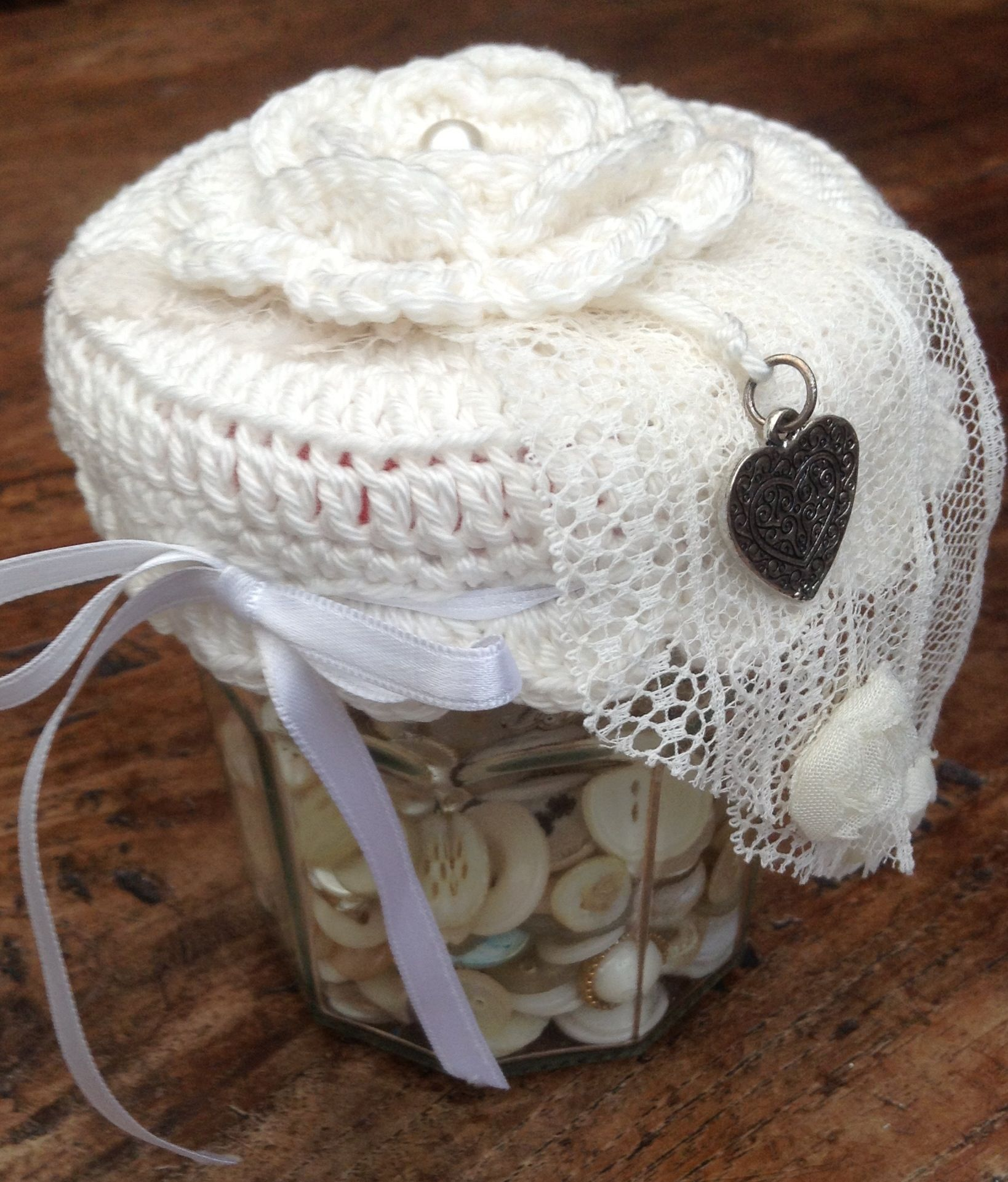Crocheted jar lid cover | Crochet Cozy - Jar Lid Cover | Pinterest ...