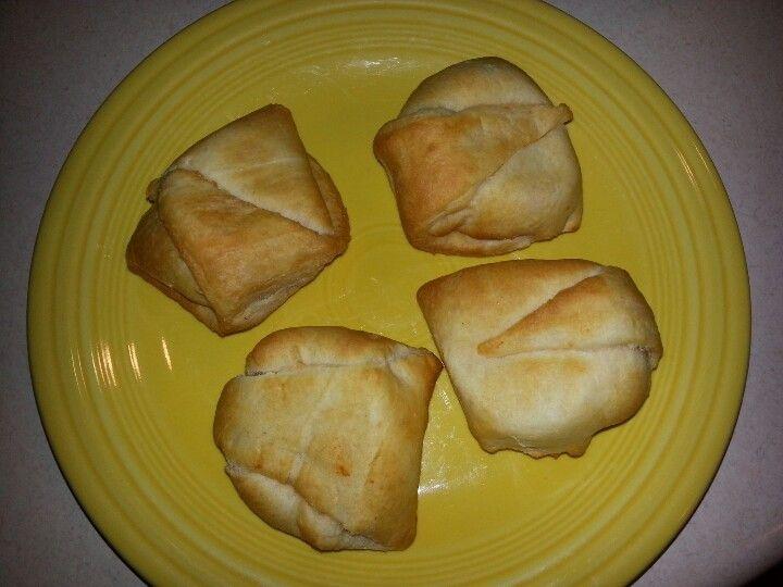 Rotisserie chicken enchilada puffs...very good !