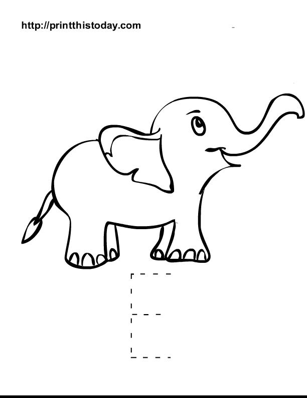 Image Detail For Alphabet E Tracing Worksheets For Kindergarten