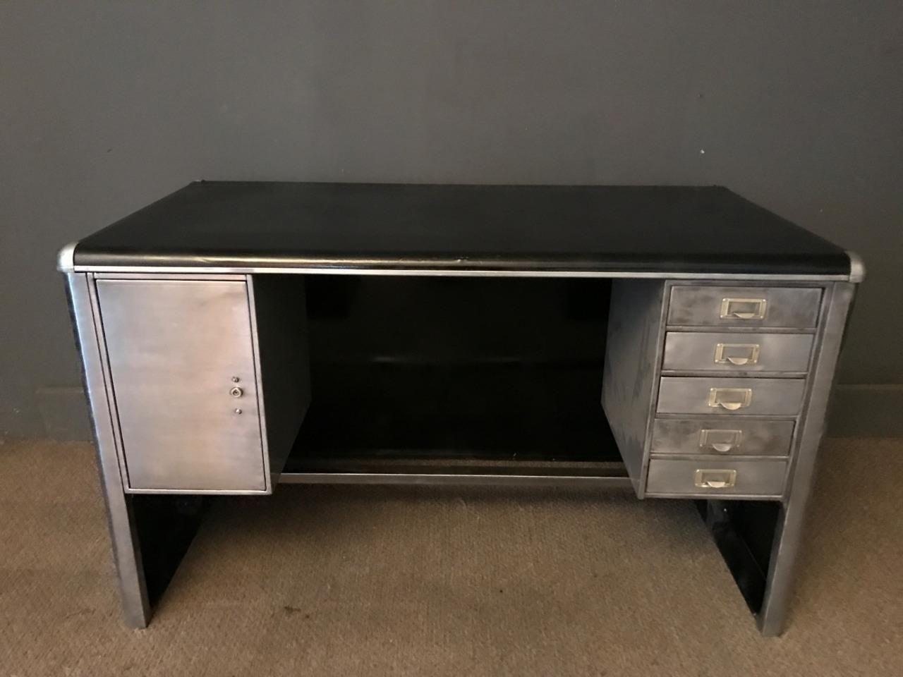 ebay office desks. STUNNING VINTAGE MID CENTURY STRIPPED METAL DESK OFFICE WITH KEY | EBay Ebay Office Desks E