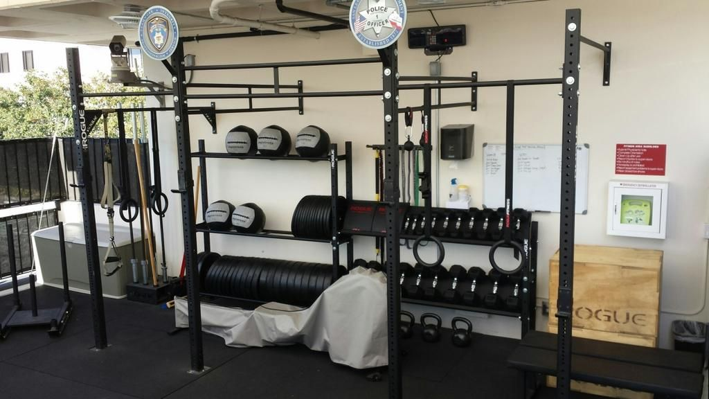 A nice garage gym with all the basics home gym gym workouts