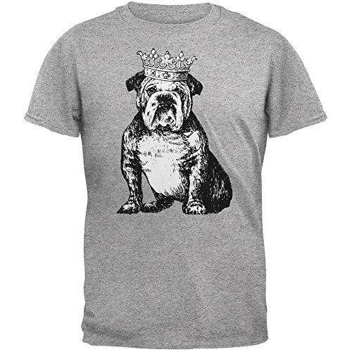 Bulldog Crown Heather Grey Adult T-Shirt - Small Animal World http://smile.amazon.com/dp/B00WN6G2F6/ref=cm_sw_r_pi_dp_.g3swb1NNZEQA