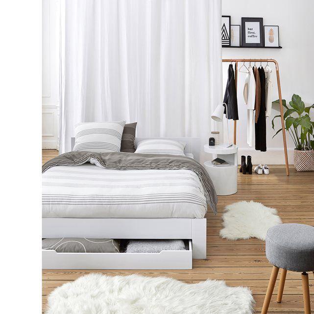 excellent image lit places avec sommier et tiroir crawley la redoute interieurs with la redoute. Black Bedroom Furniture Sets. Home Design Ideas