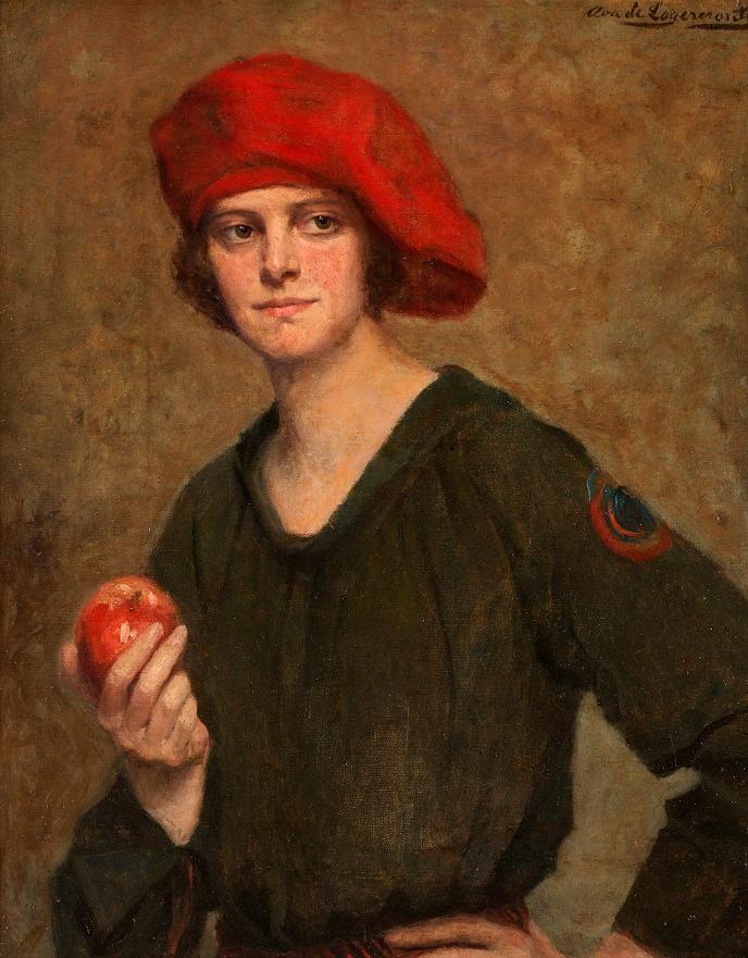 Portrait by Swedish Painter Ava de Lagercrantz ~ 'Soprano Greta Torpadie Bratt'