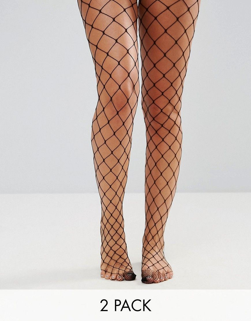 7da842aedafa95 2 Pack Oversized Fishnet Tights In Black And White | Products ...