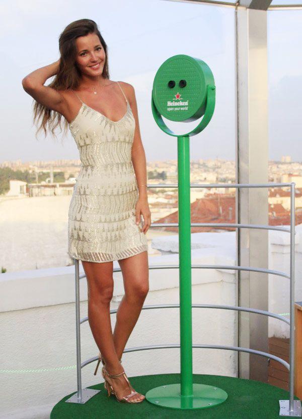 La bella Malena Costa ha sido elegida por Heineken para amadrinar un evento