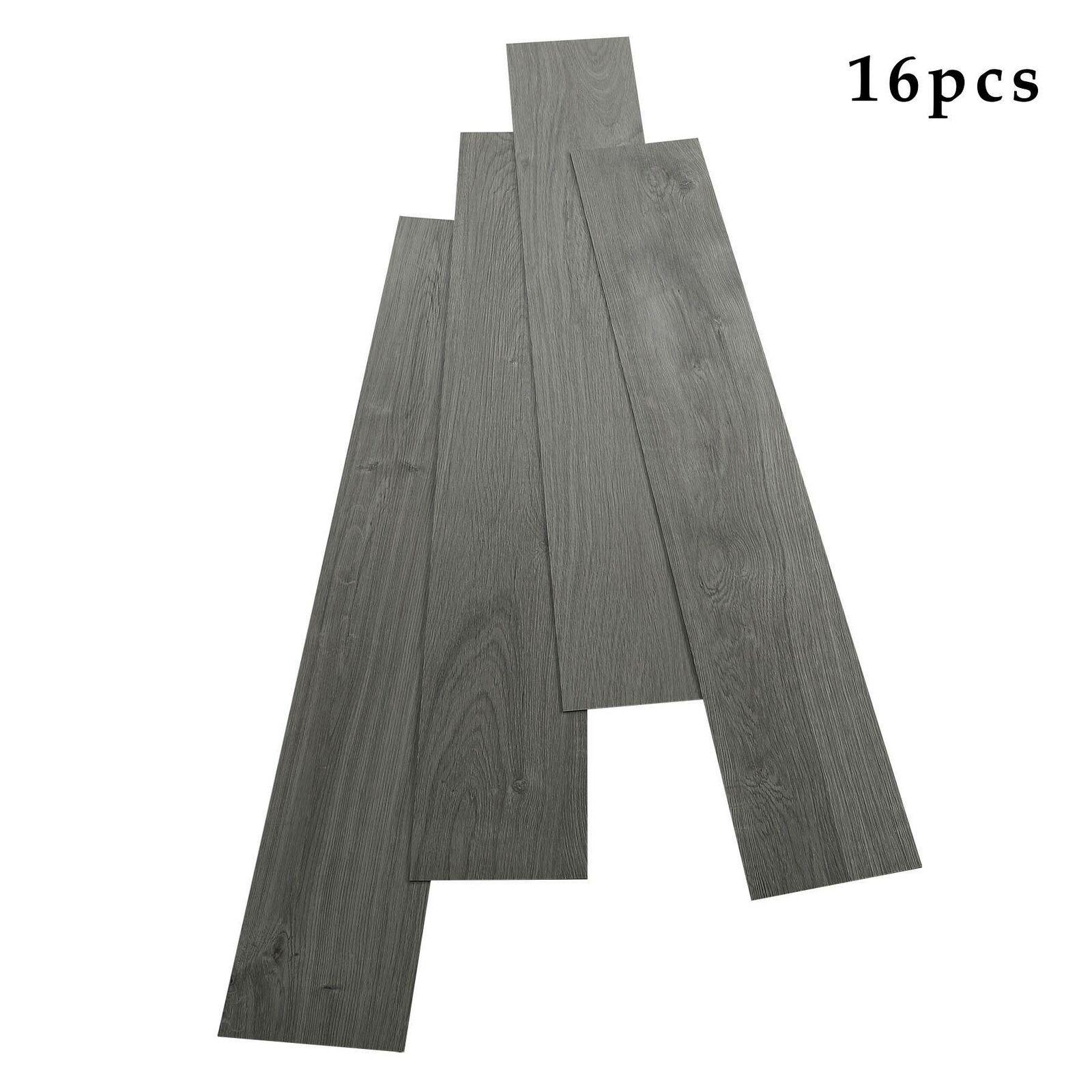 16 Pcs Formaldehyde Free Vinyl Floor Planks Adhesive Floor Tiles 2 0mm Thick Vinyl Flooring Ideas Of Vi In 2020 Vinyl Flooring Adhesive Floor Tiles Plank Flooring