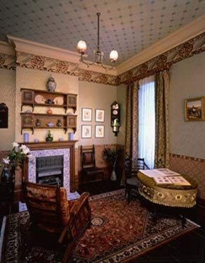 British Paintings: A drawing room in 1890 | Victorian Decor ... on cool architecture design, old cypress kitchens by design, 1890s interior design, bathroom design, 1920s home interior design, 1920 home decor and design,