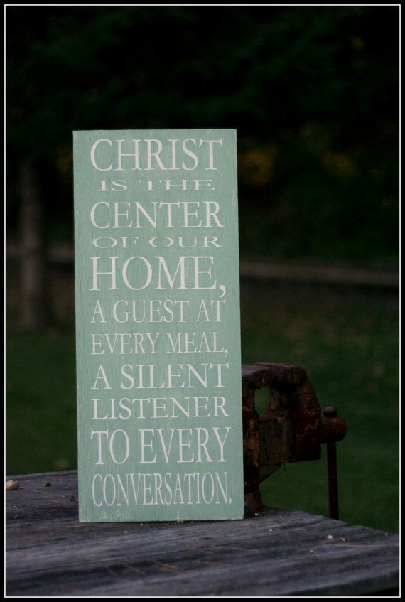 Christ Is The Center Of Our Home Wall  - Silhouette Cameo Ideas
