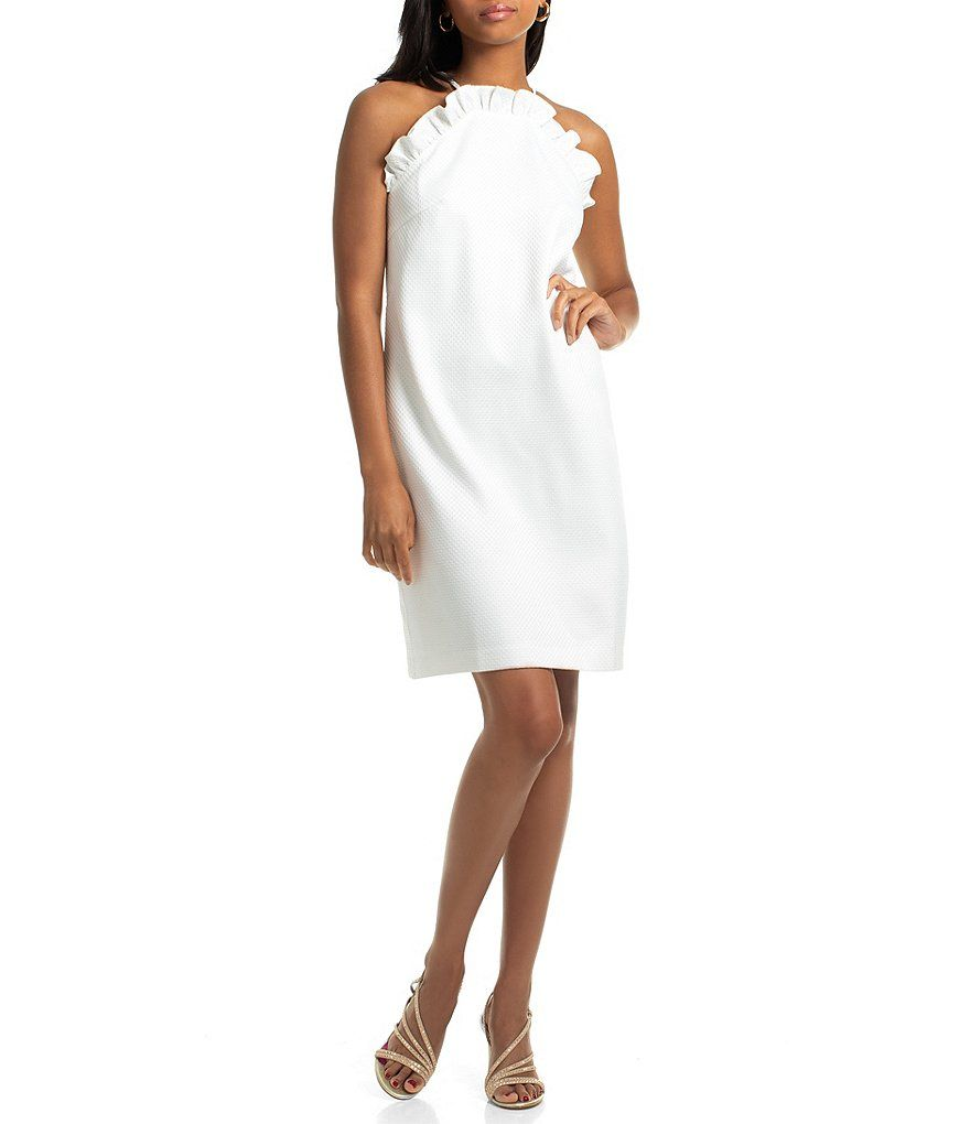 4ed3a7f7fc Trina Trina Turk Ruffle Halter Shift Dress #Sponsored #Ruffle, #sponsored, #