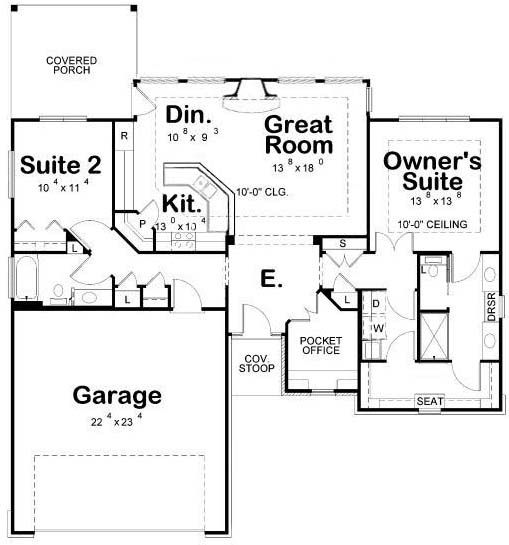 Floor plans with laundry room next to master the plan in - Laundry room floor plans ...