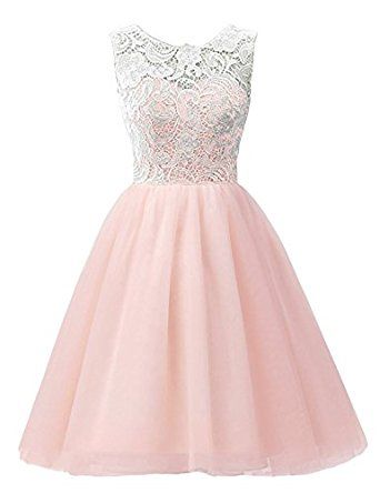 548ef1e2e545 Amazon.com: MicBridal Flower Girl / Adult Ball Gown Lace Short Prom Dress:  Clothing