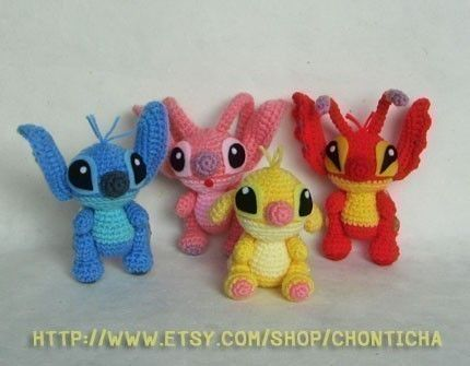 Amigurumi Disney Patterns : Stitch and the gang pdf amigurumi crochet pattern amigurumi