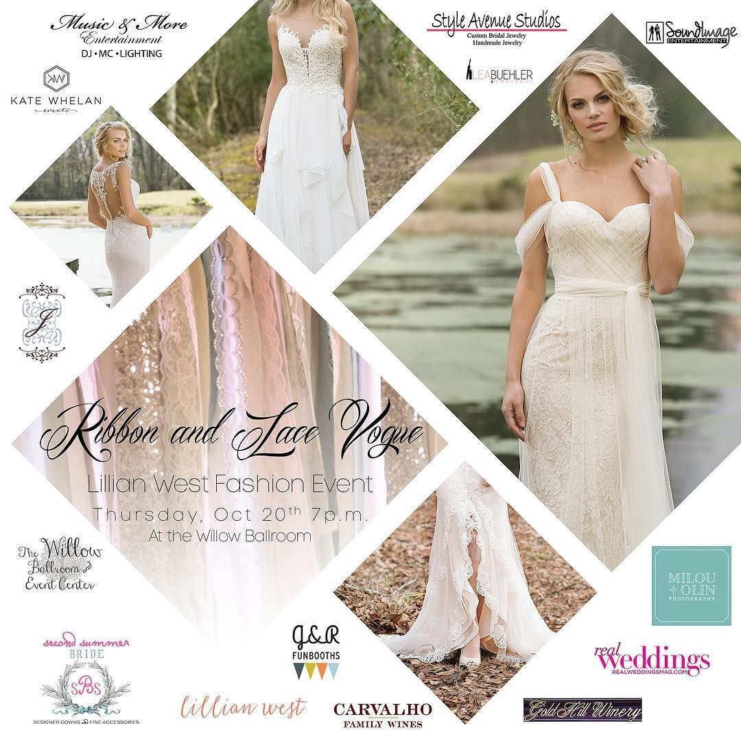 Wedding dress sacramento  Lovelies have you reserved your tickets yet for our Ribbon and Lace