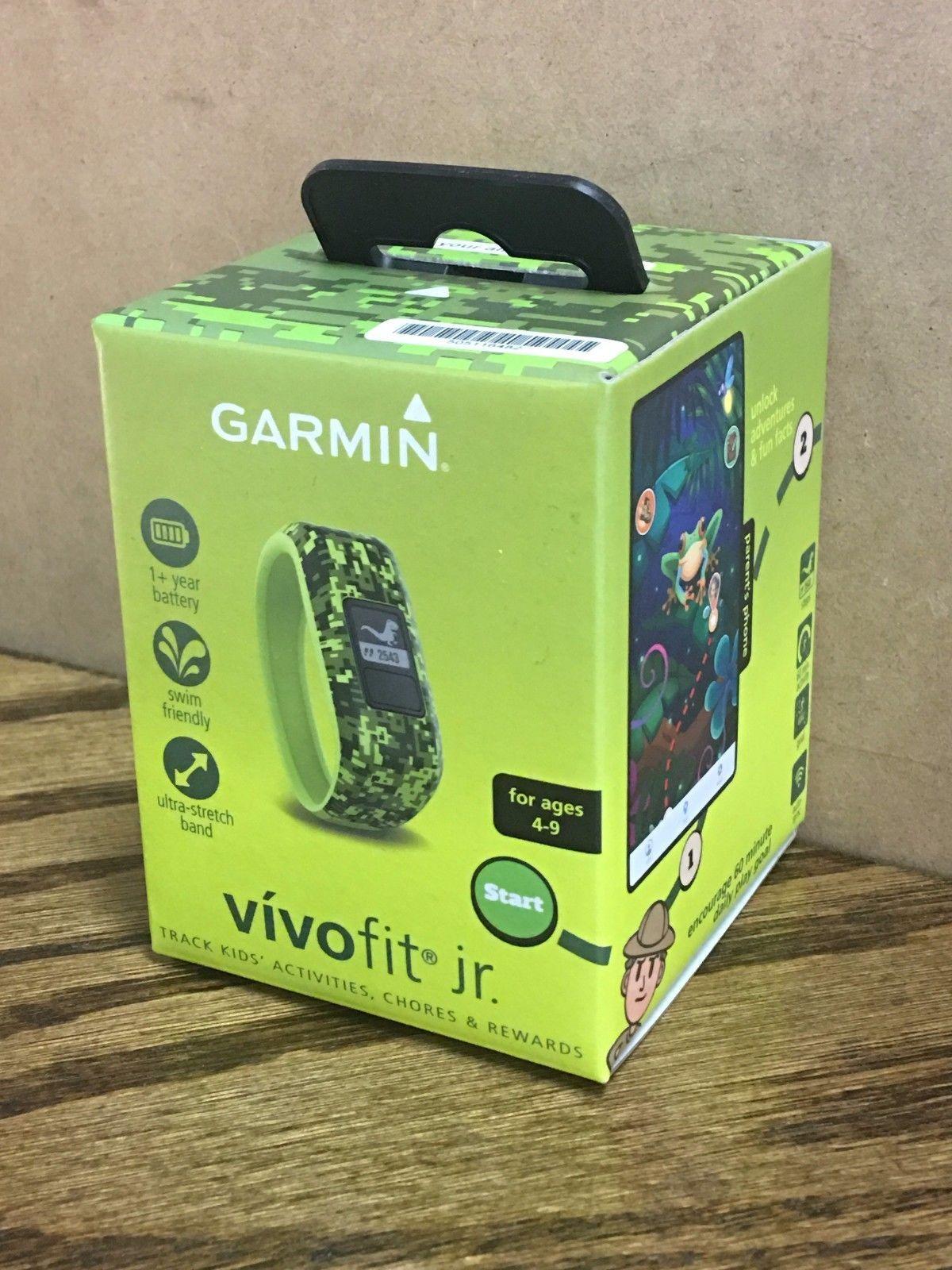 Camo Green  Age 4-9 New Garmin vivofit Jr Kids Activity Chore Tracker