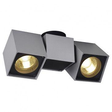 ALTRA DICE SPOT 2, silbergrau  schwarz, GU10, max 2x50W   LED24 - deckenleuchten für badezimmer