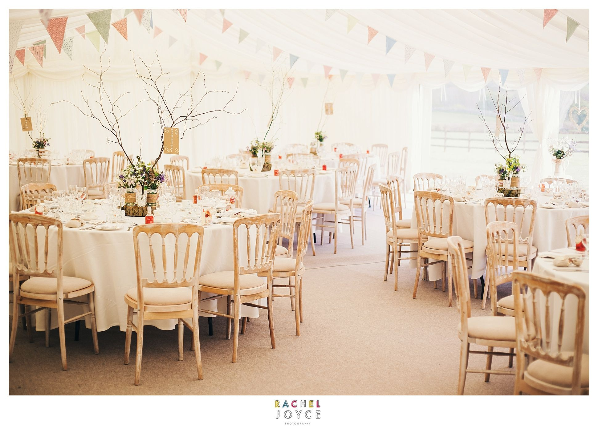 Table layout. Wedding tables. Vintage themed wedding. Bunting for a wedding. Wedding inspirations. www.racheljoycephotography.co.uk