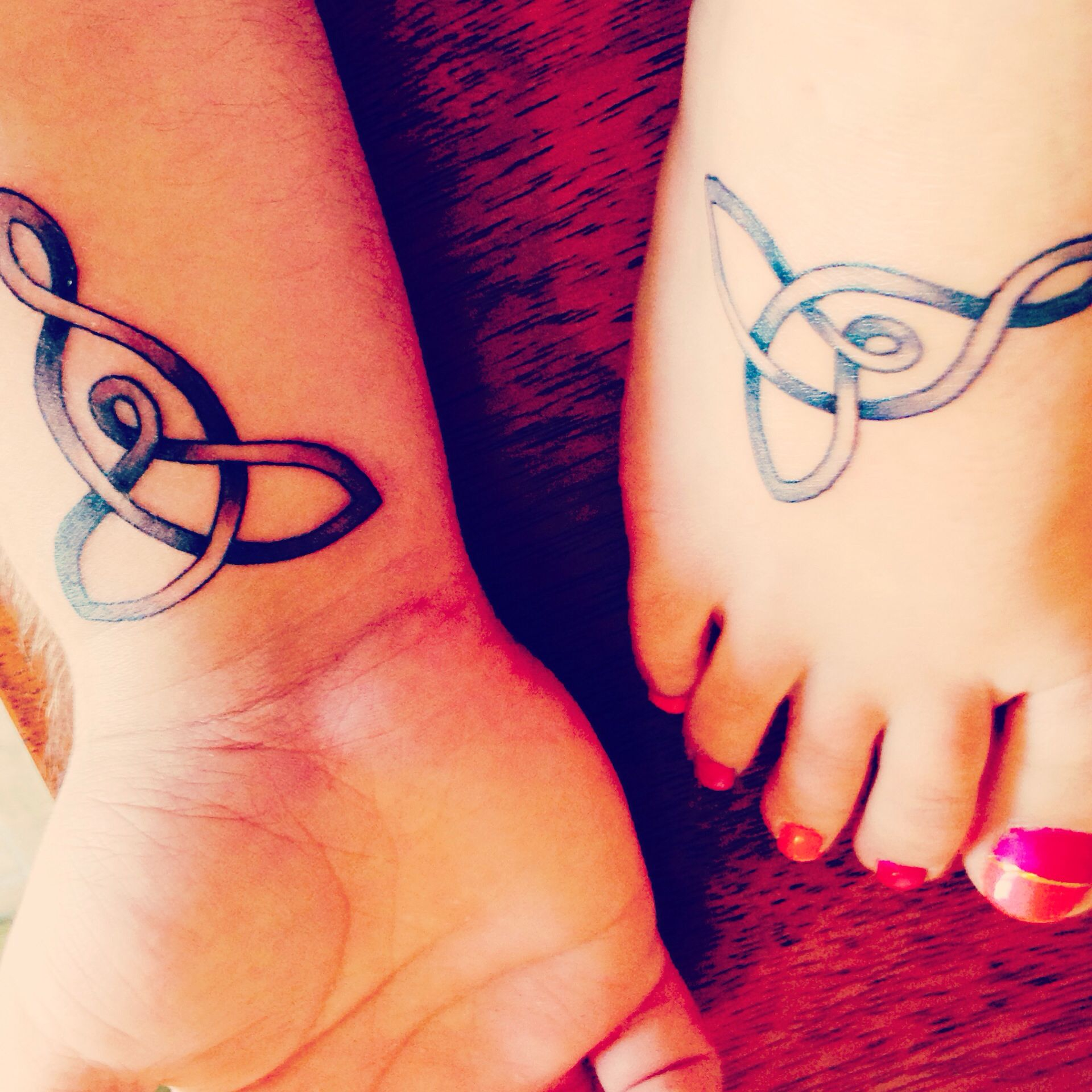 "Some Of Lovely Looking Mother And Son Tattoo: Mother And Son Tattoos. Celtic Knot Meaning ""mother And"