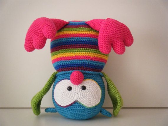 Custom order - Flora, the owl - crochet owl - stuffed toy - Stip en ...