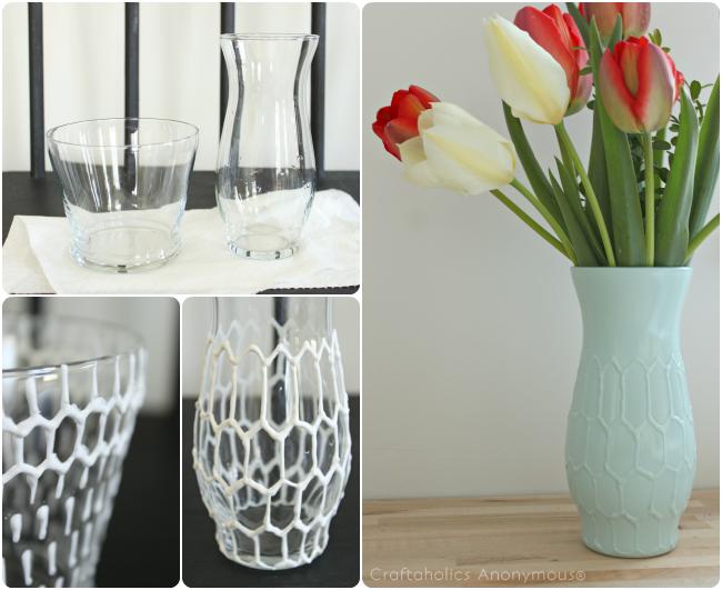 Craftaholics Anonymous Diy Honeycomb Vase Tutorial Diy