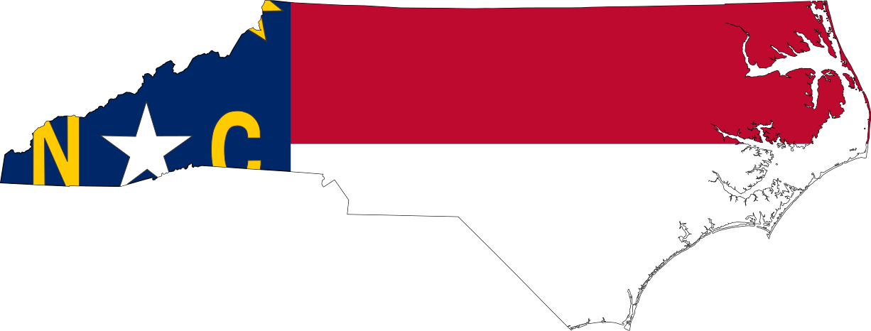 Flag Map Of North Carolina Cities In North Carolina North Carolina Map Living In North Carolina