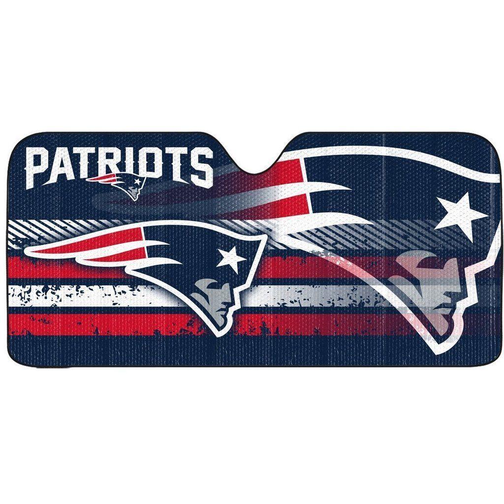 Nfl New England Patriots Automotive Sun Shade Universal Size By Team Promark New England Patriots Nfl New England Patriots Patriots