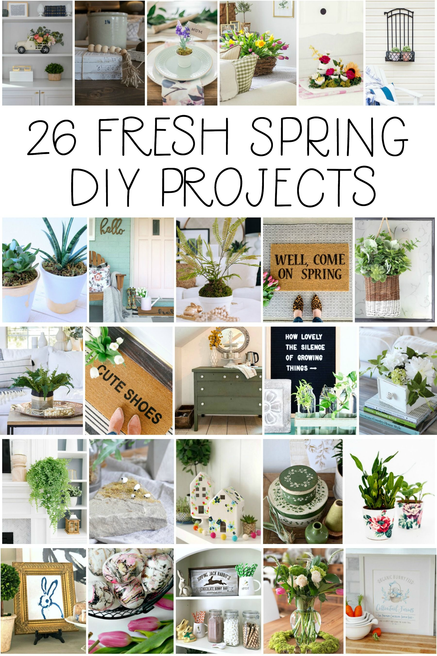 Watering Can Makeover 26 Spring Decor Ideas Lolly Jane Spring Diy Projects Gold Leaf Diy Spring Diy