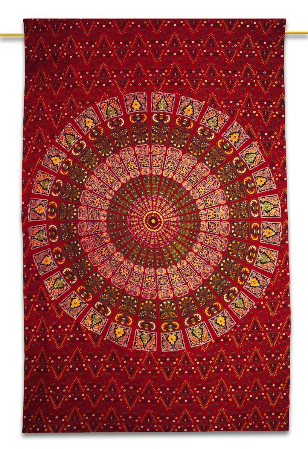 Large Red Mandala Tapestry. click to buy
