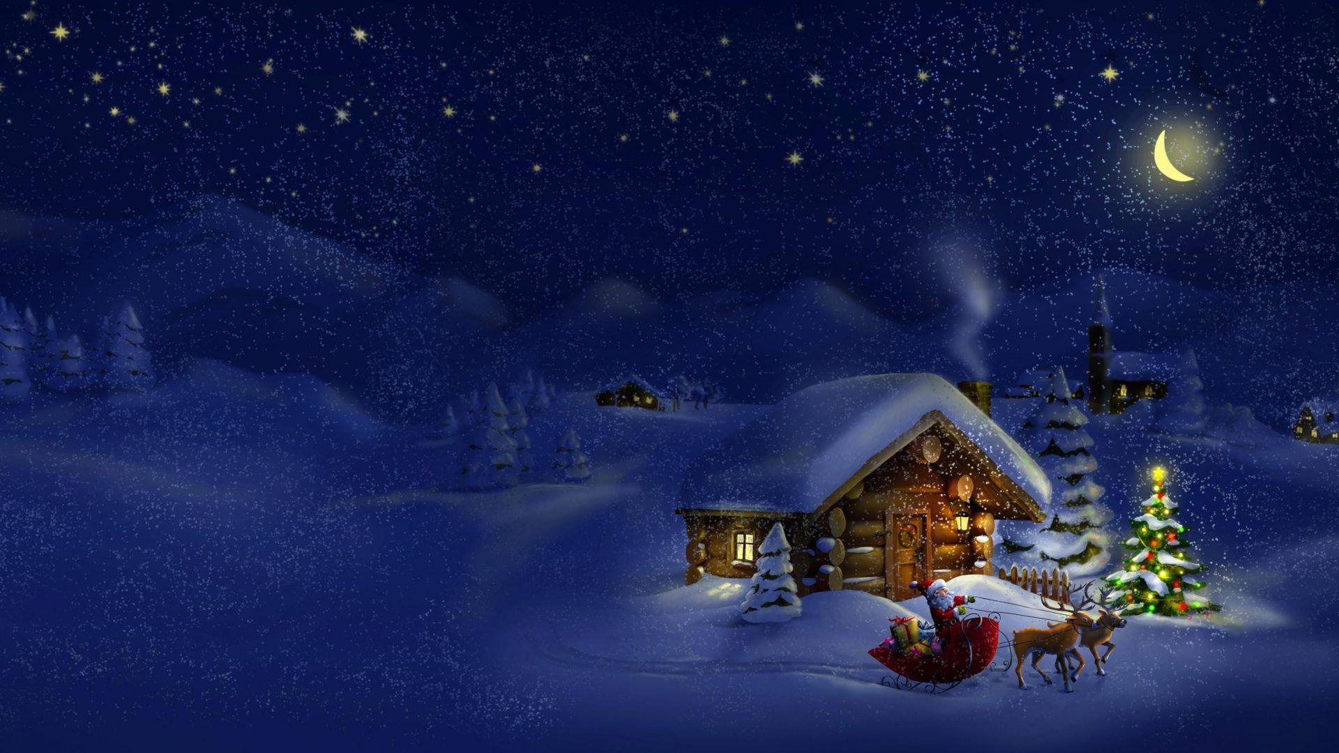Xinature Com Eve Winter Snow Merry Magic Evening Santa Nature Xmas Snowy Christmas Time Free D Christmas Backdrops Christmas Wallpaper Hd Christmas Wallpaper