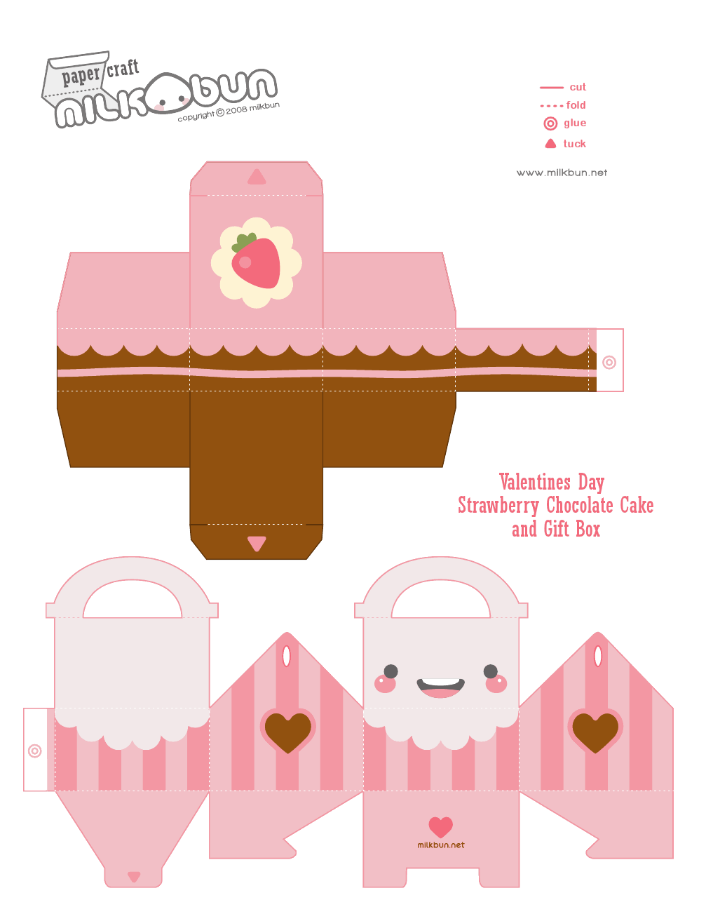 Cut out and fold cupcake box they added a face to make for Cute papercraft templates