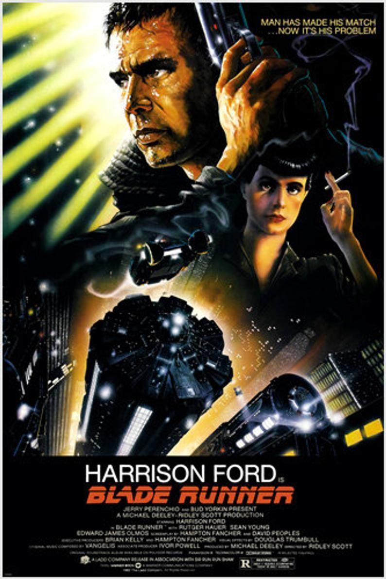 BLADE RUNNER movie poster 24X36 Ridley Scott starring Harrison Ford