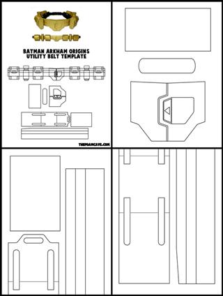 Template for Arkham Origins Batman Utility Belt | The Foam Cave
