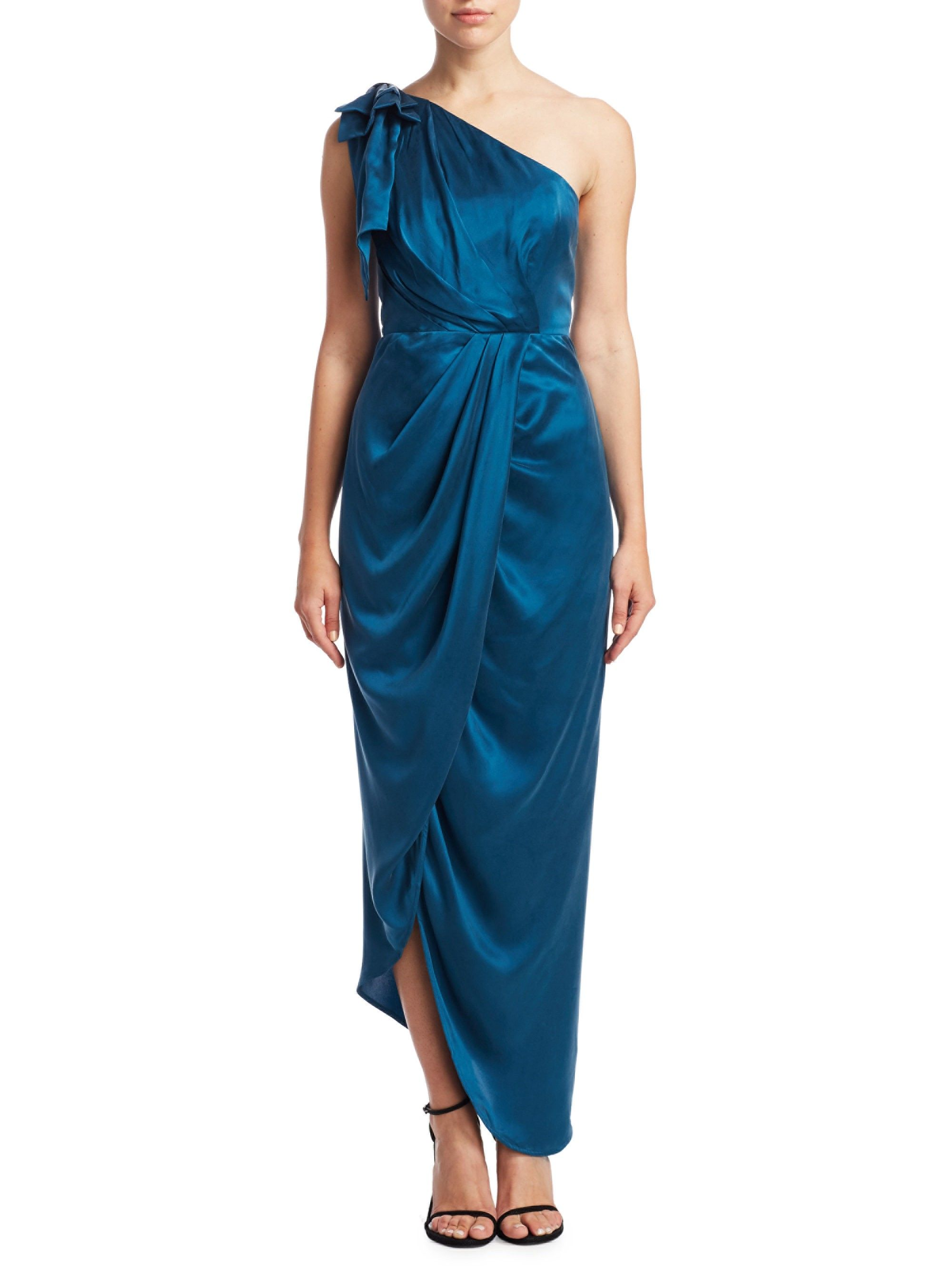 3e8f5982798b6 Draped One-Shoulder Dress by Zimmermann in 2019 | Products | Dresses ...