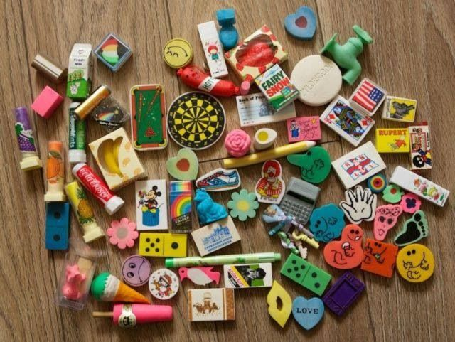 Novelty Rubber Collection My Sister And I Collected These Our Top Hobby Lol Recognise So Many Of These Childhood Memories 70s Stationery Addict Stationery